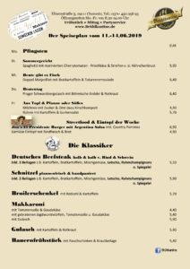 Unser Wochenmenü / Speiseplan für die 24. KW (11.-14.06.2019) - Frühstück & Mittagessen & Catering - Brühlkantine Chemnitz